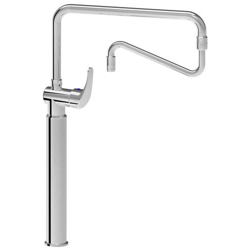Monoblock single short lever mixer tap with long base