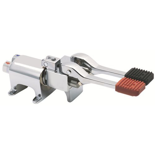 Foot operated Eco mixer tap with stop lever